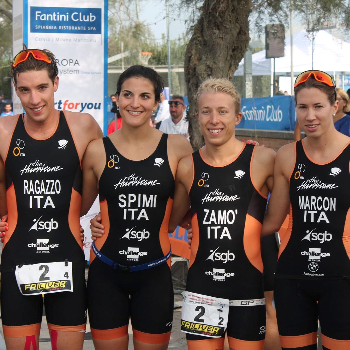 La staffetta The Hurricane è di nuovo bronzo nel circuito Mixed Relay a Cervia