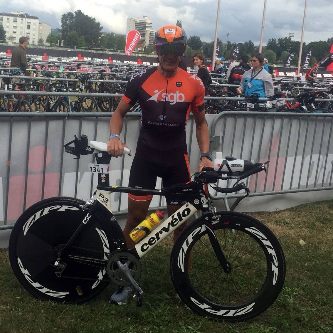 Roberto Tedde, grande prestazione all'IRONMAN France